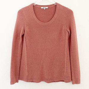Madewell Riverside Texture Sweater Dusty Rose XS